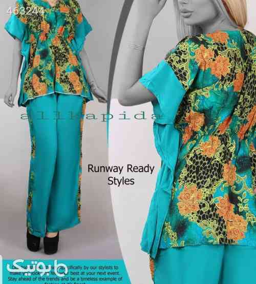 لباس راحتی فیروزه ای 99 2020