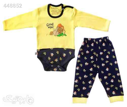 ست بادی و شلوار نوزاد طرح بره سورمه ای 99 2020