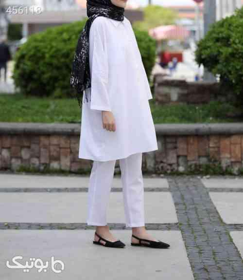 ست لباس سفید زنانه برند SEDA TİRYAKİ کد 1589577300 سفید 99 2020