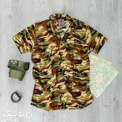 پیراهن مردانه ارتشی مدل 13647 سبز 99 2020