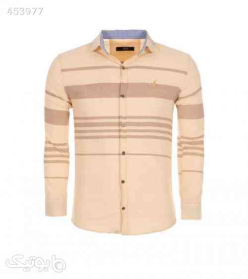 پیراهن مردانه کرم رنگ طرح polo کرم 99 2020