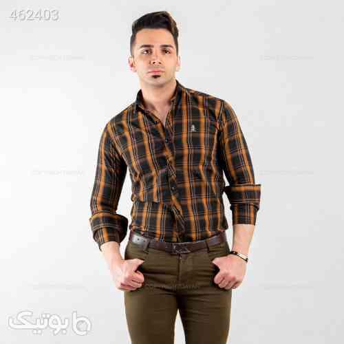 پیراهن مردانه Alma مدل 13552   قهوه ای 99 2020