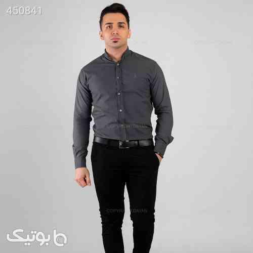 پیراهن مردانه Marlon  مدل  13342 نقره ای 99 2020