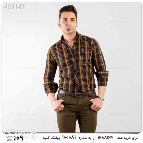 پیراهن چهارخانه ای تابستانی قهوه ای 99 2020