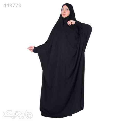 چادر حجاب جلابیب کرپ حریرالاسود شهر حجاب مدل 8070 مشکی 99 2020
