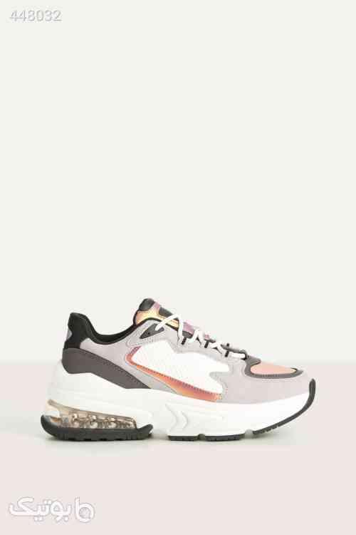 کفش طرح دار رنگارنگ اسپرت زنانه برند Bershka کد 1588488868 سفید 99 2020