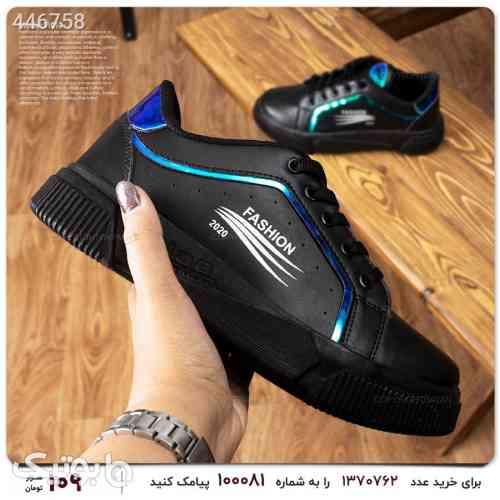 کفش کتونی اسپرت دخترانه شب رنگی مشکی 99 2020