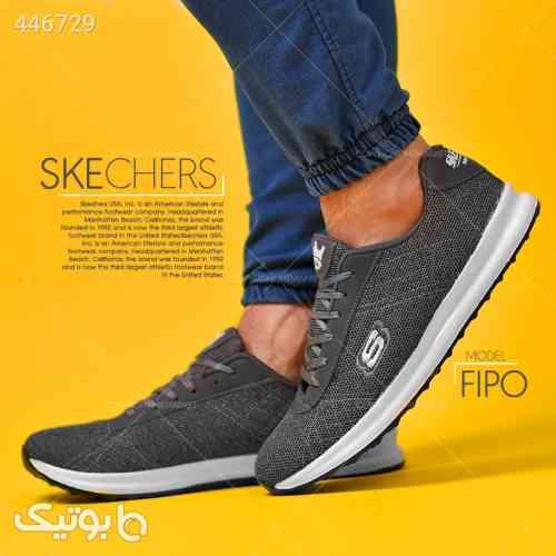 كفش مردانه SKECHERS مدل FIPO طوسی 99 2020