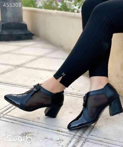 کفش بسیارشیک پرفروش ورنی ۵سانت تور مشکی 99 2020