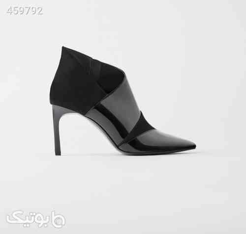کفش زنانه برند زارا Zara ASYMMETRIC مشکی 99 2020