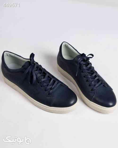 کفش چرم مردانه بند دار - سرمهای سورمه ای 99 2020