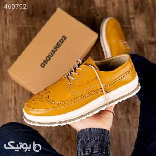کفش چرم dsquared2 طلایی 99 2020