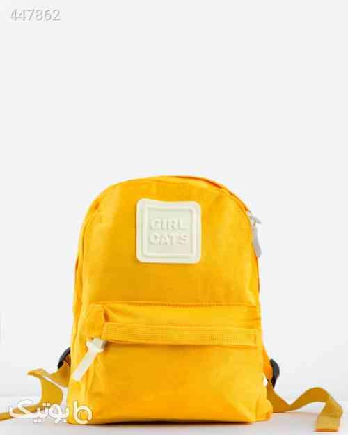 کوله پشتی کوچک کتان ساده - زرد زرد 99 2020