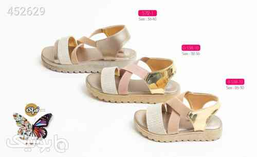 کفش دخترانه کد 443 بچه گانه شیک زرد 99 2020