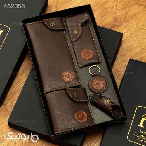 ست کیف چرمی 6 تکه قهوه ای 99 2020
