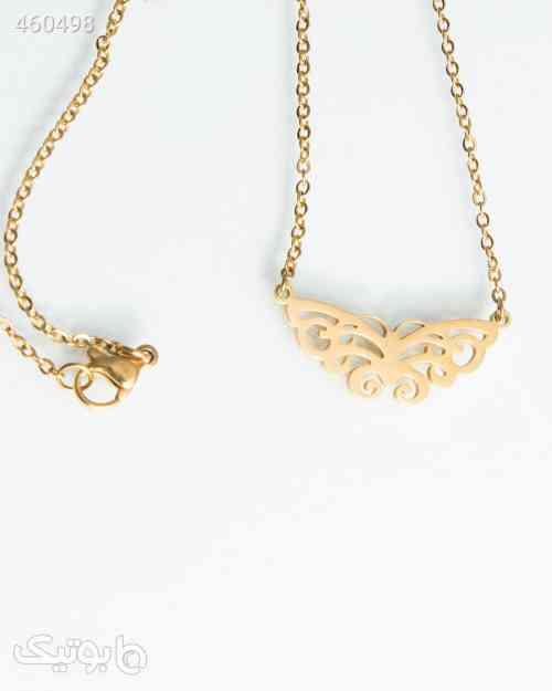 گردنبند دخترانه استیل طرح پروانه طلایی 99 2020