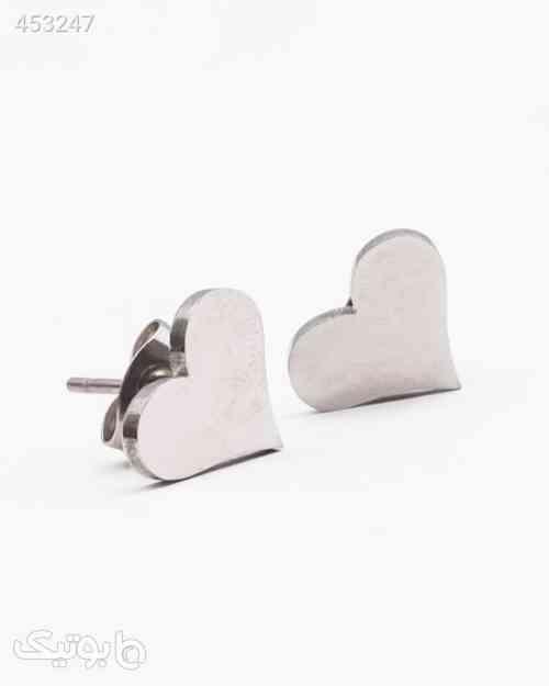 گوشواره استیل طرح قلب زنانه نقره ای 99 2020
