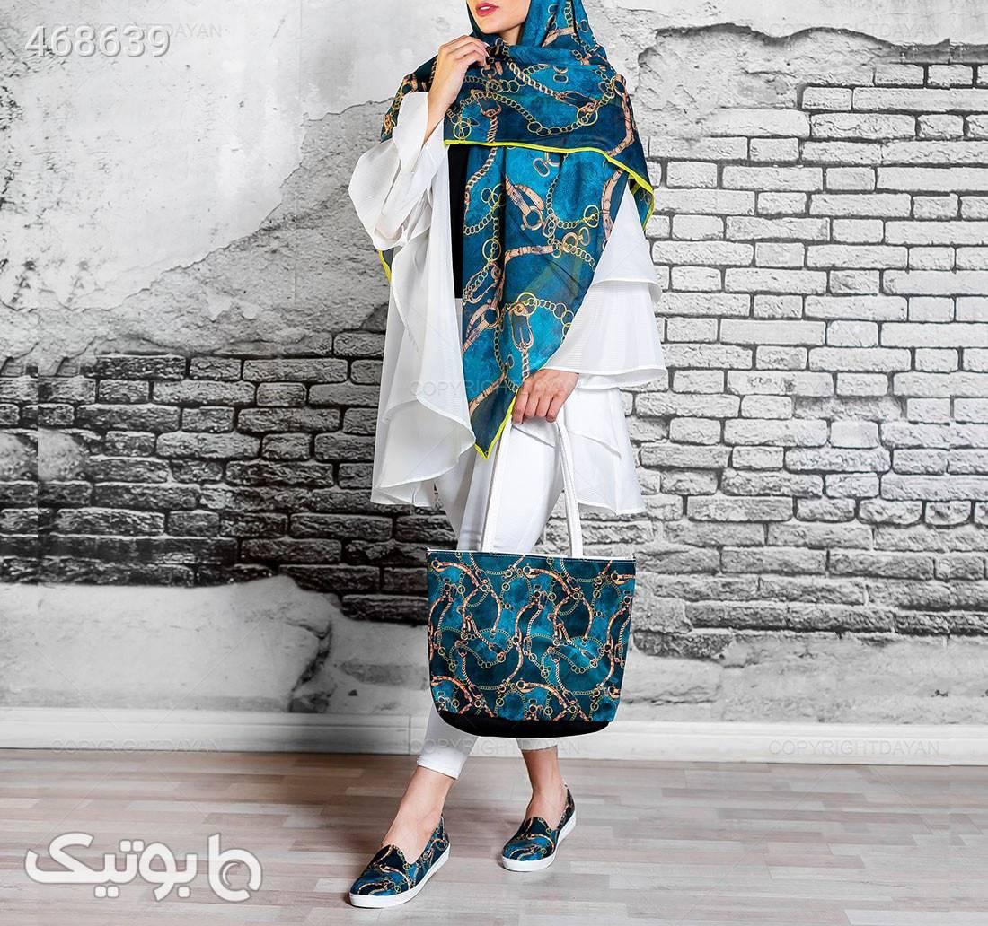 ست سه تیکه زنانه Olivia  مدل 13746 فیروزه ای ست کیف و کفش زنانه