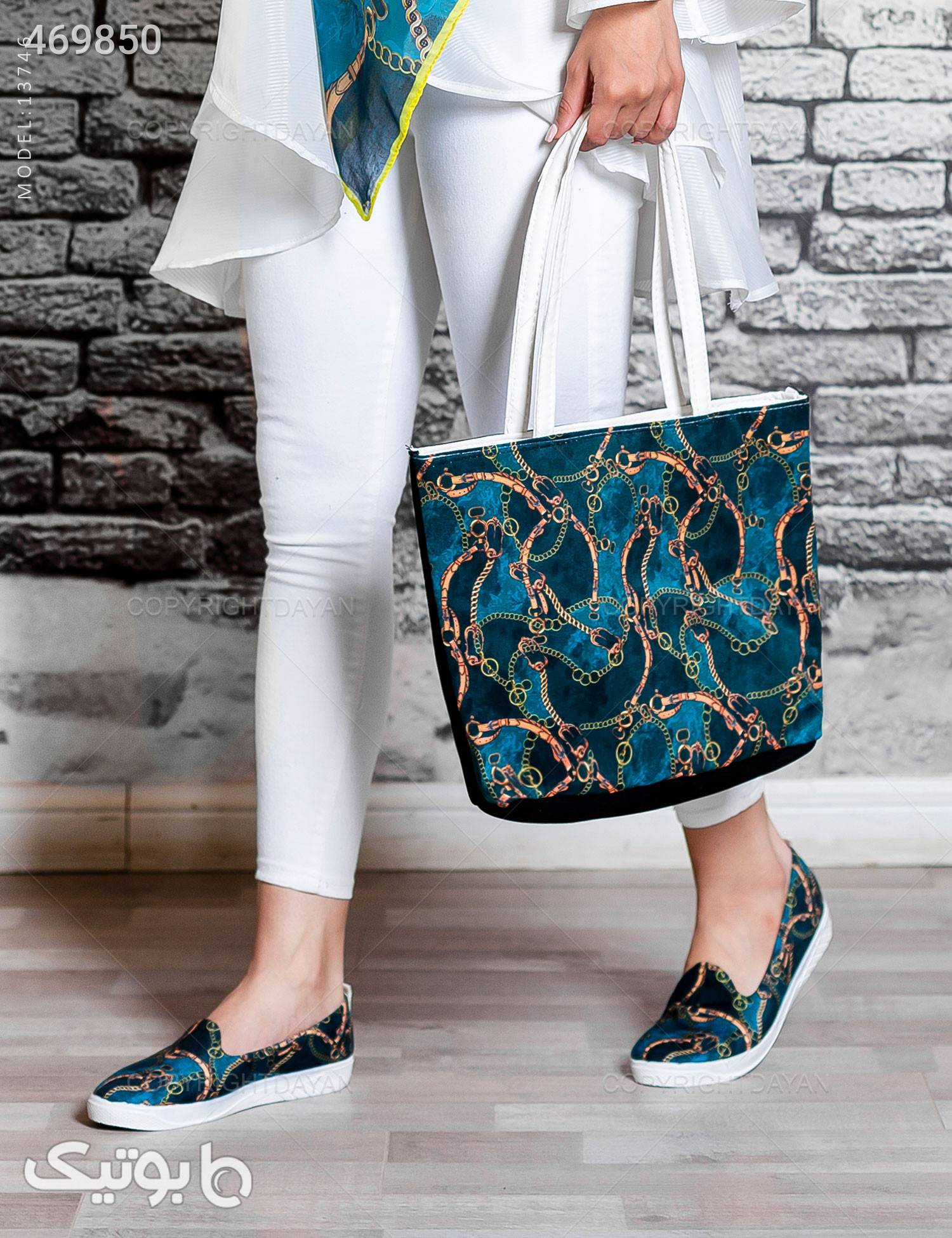 ست سه تیکه زنانه Olivia  مدل 13746 آبی ست کیف و کفش زنانه