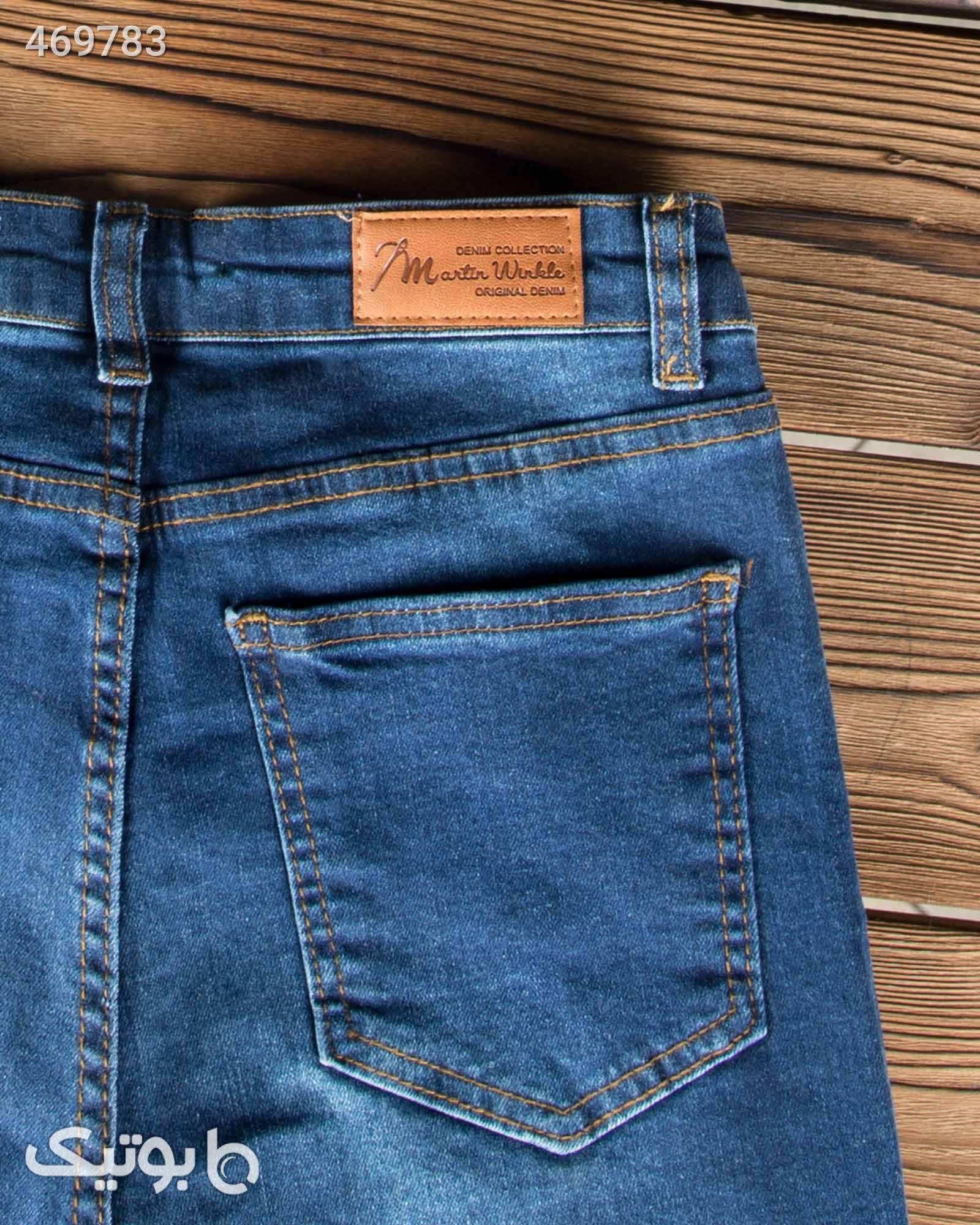 شلوار جین آبی تیره زنانه آبی شلوار زنانه