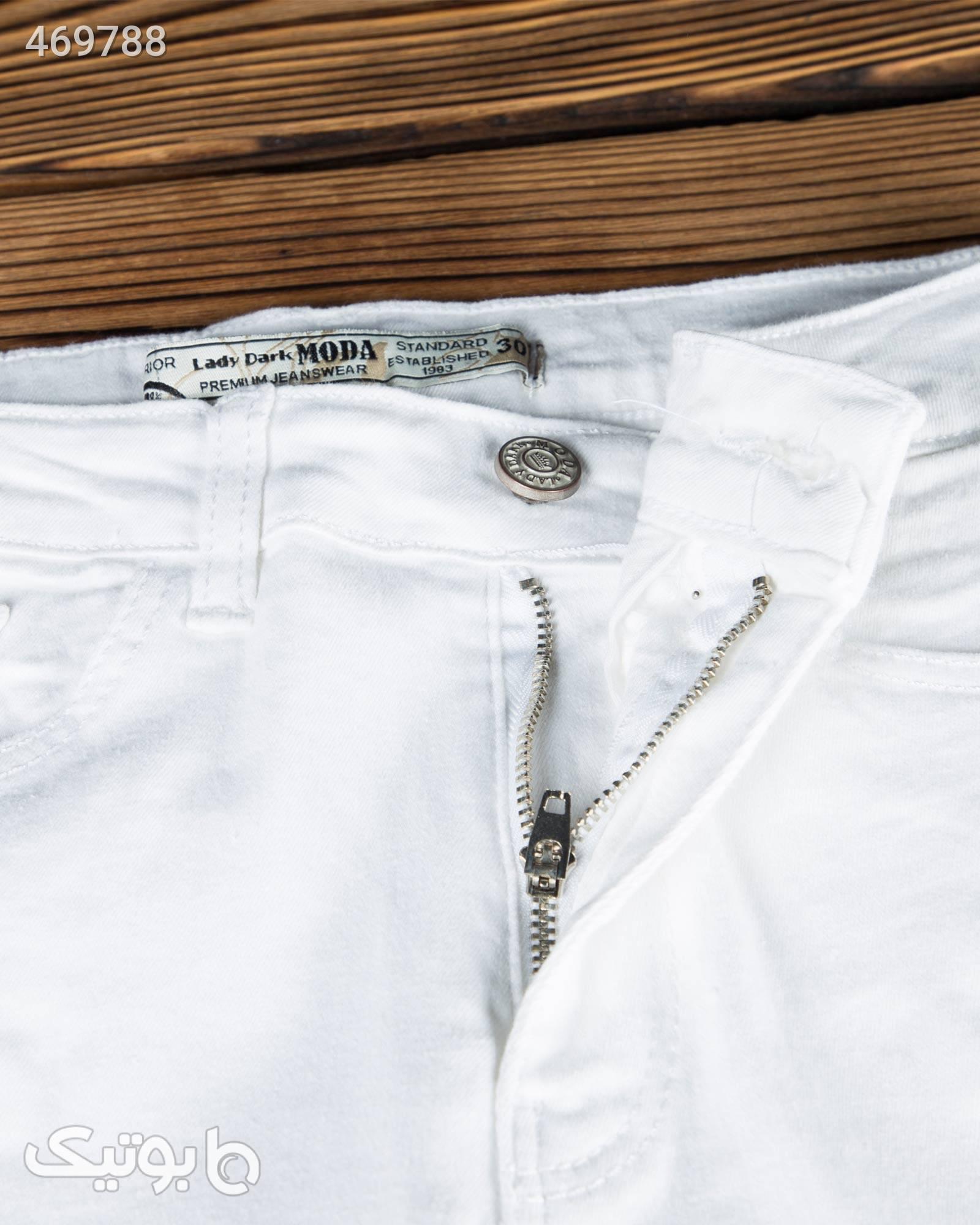 شلوار جین سفید جذب زنانه سفید شلوار زنانه