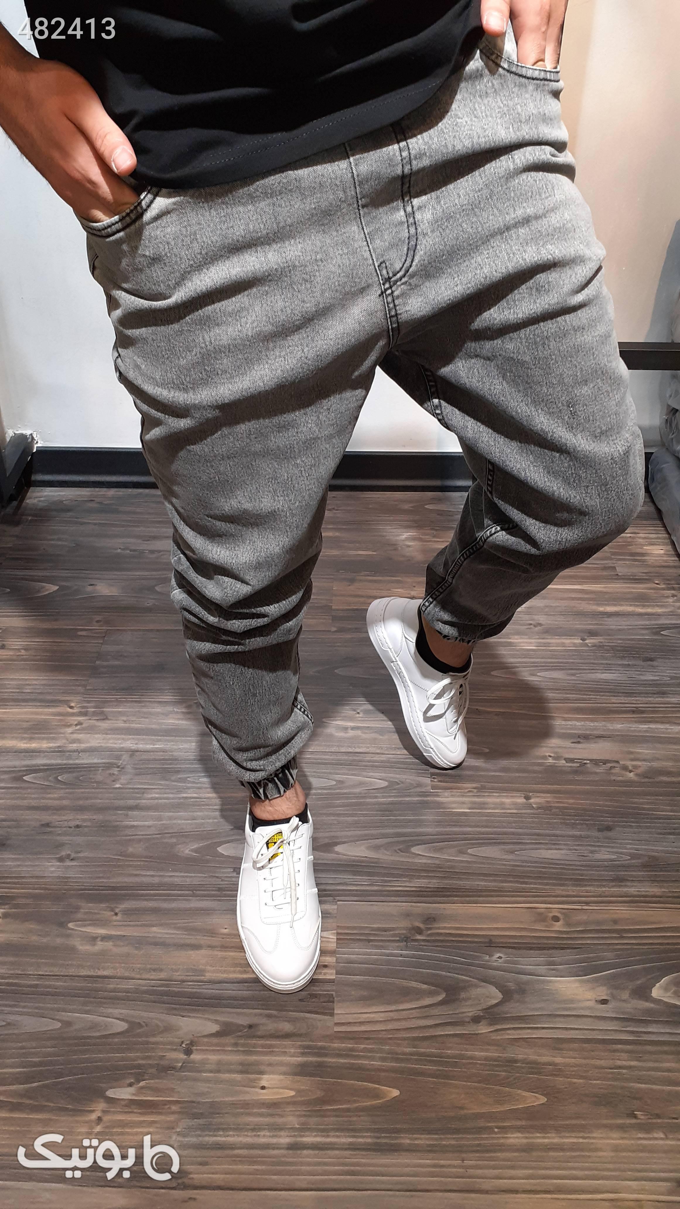 شلوار اسلش جین طوسی سبز شلوار مردانه پارچه ای و کتان مردانه