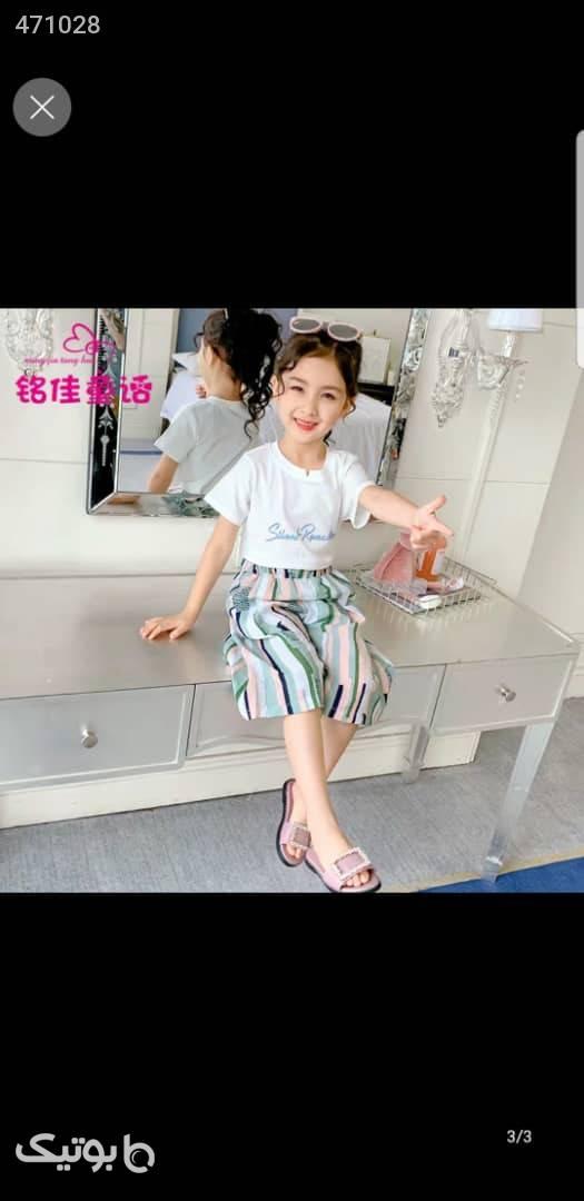 ست بچه گانه  سفید لباس کودک دخترانه