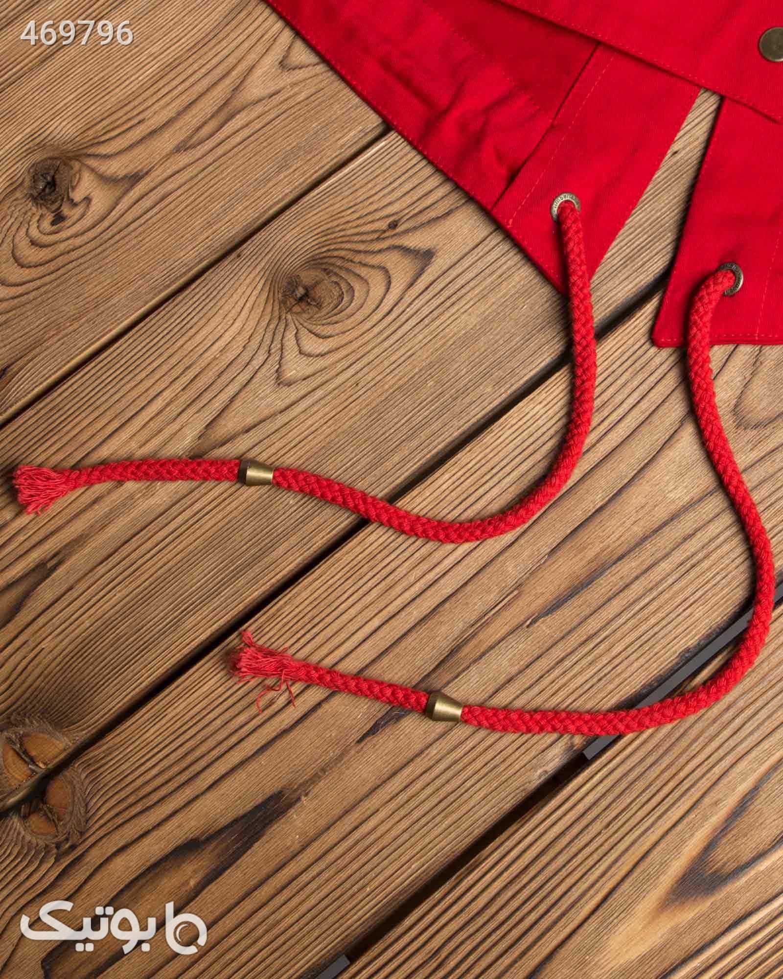 مانتو کوتاه کلاه دار پاییزه - قرمز مانتو