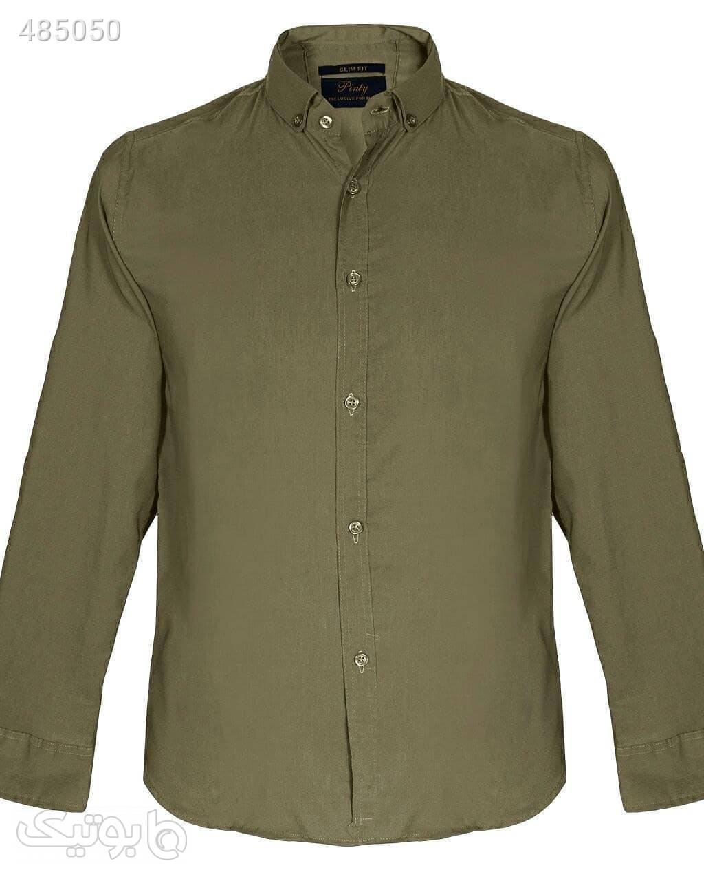 پیراهن مردانه رسمی اداری سبز پيراهن مردانه