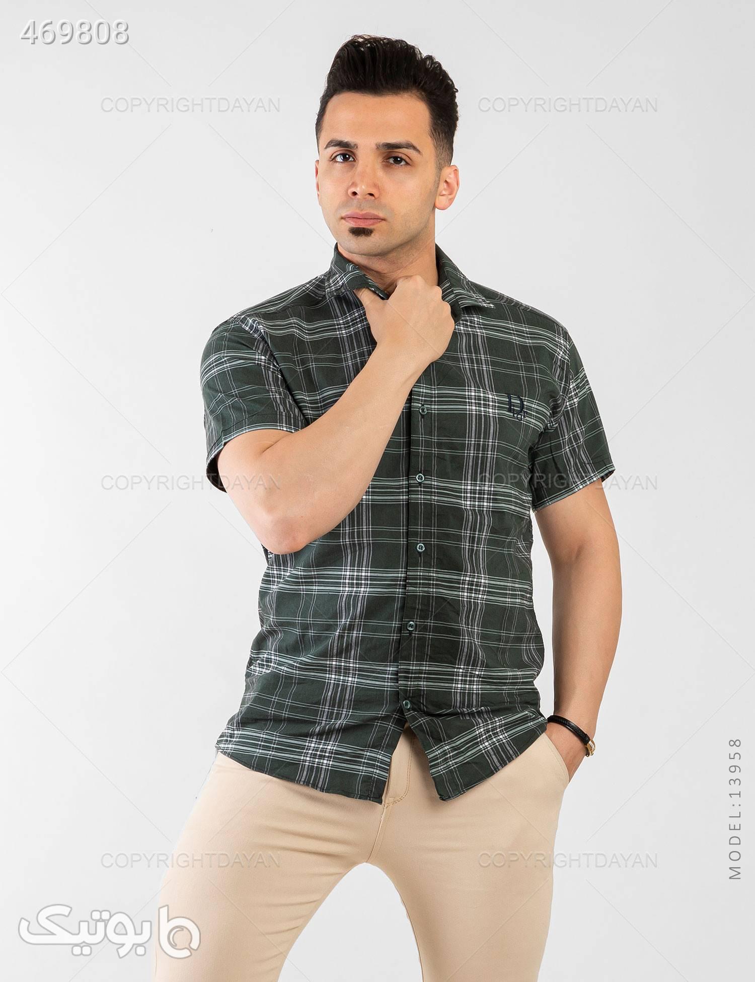 پیراهن مردانه Araz مدل 13958 سبز پيراهن مردانه