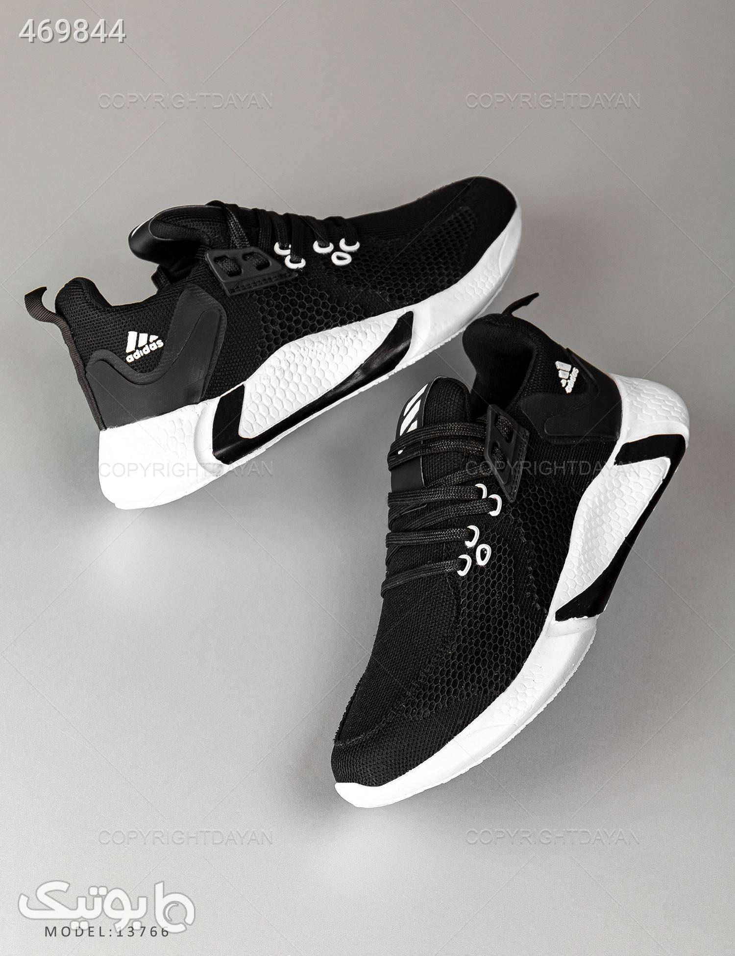 کفش روزمره مردانه Adidas مدل 13766 مشکی كتانی مردانه