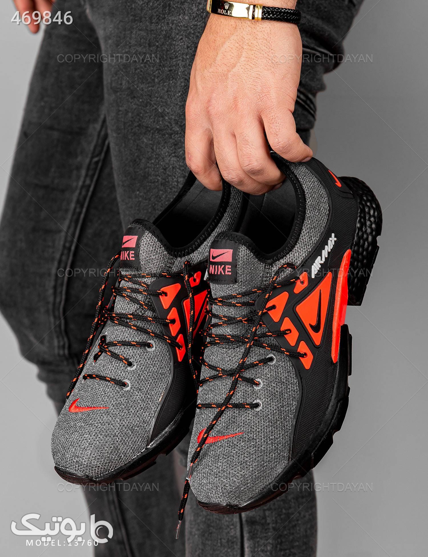 کفش روزمره مردانه Nike مدل 13760 طوسی كتانی مردانه
