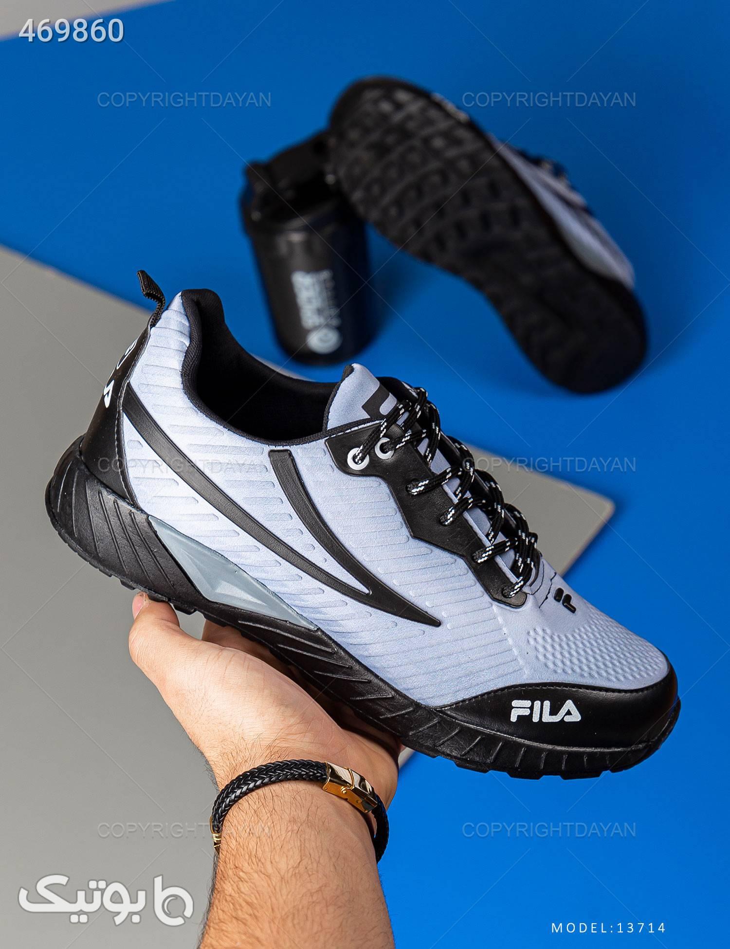کفش ورزشی مردانه Fila مدل 13714 فیروزه ای كتانی مردانه