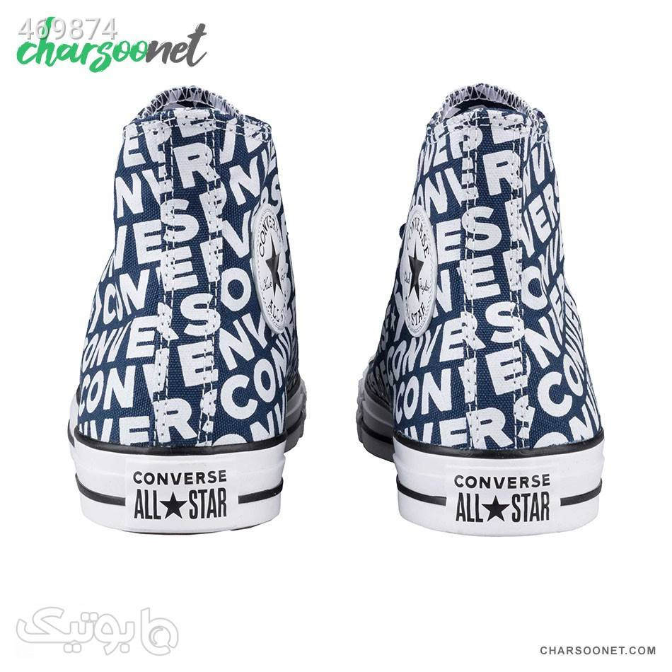 کتانی کانورس Chuck Taylor All Star Hi Wordmark سورمه ای كفش مردانه