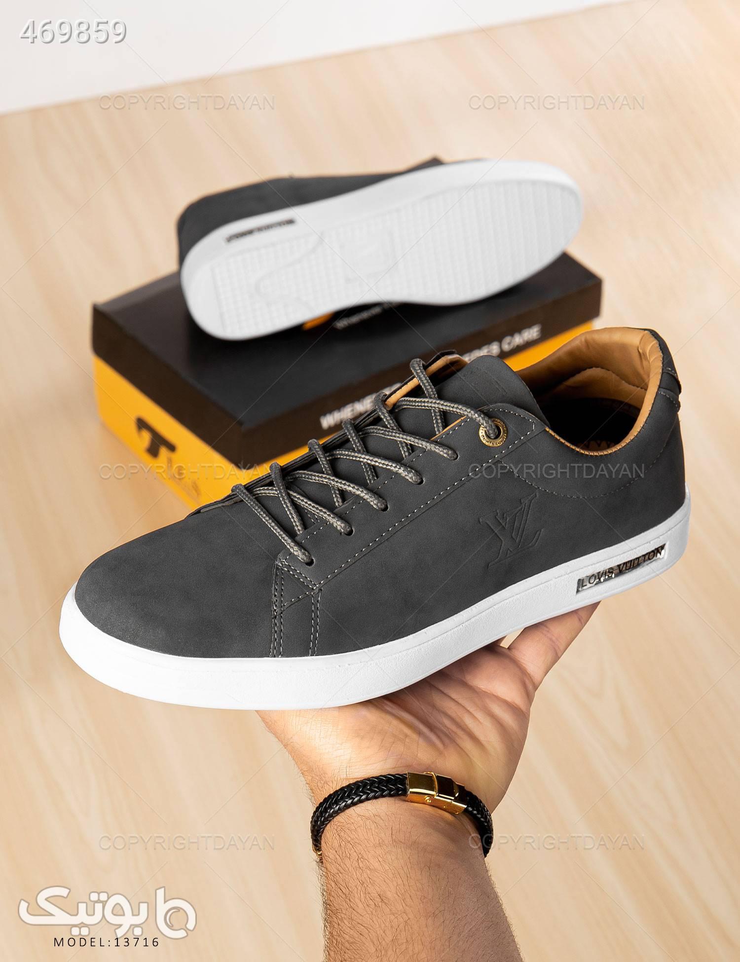 کفش روزمره مردانه Louis Vuitton مدل 13716 طوسی كفش مردانه
