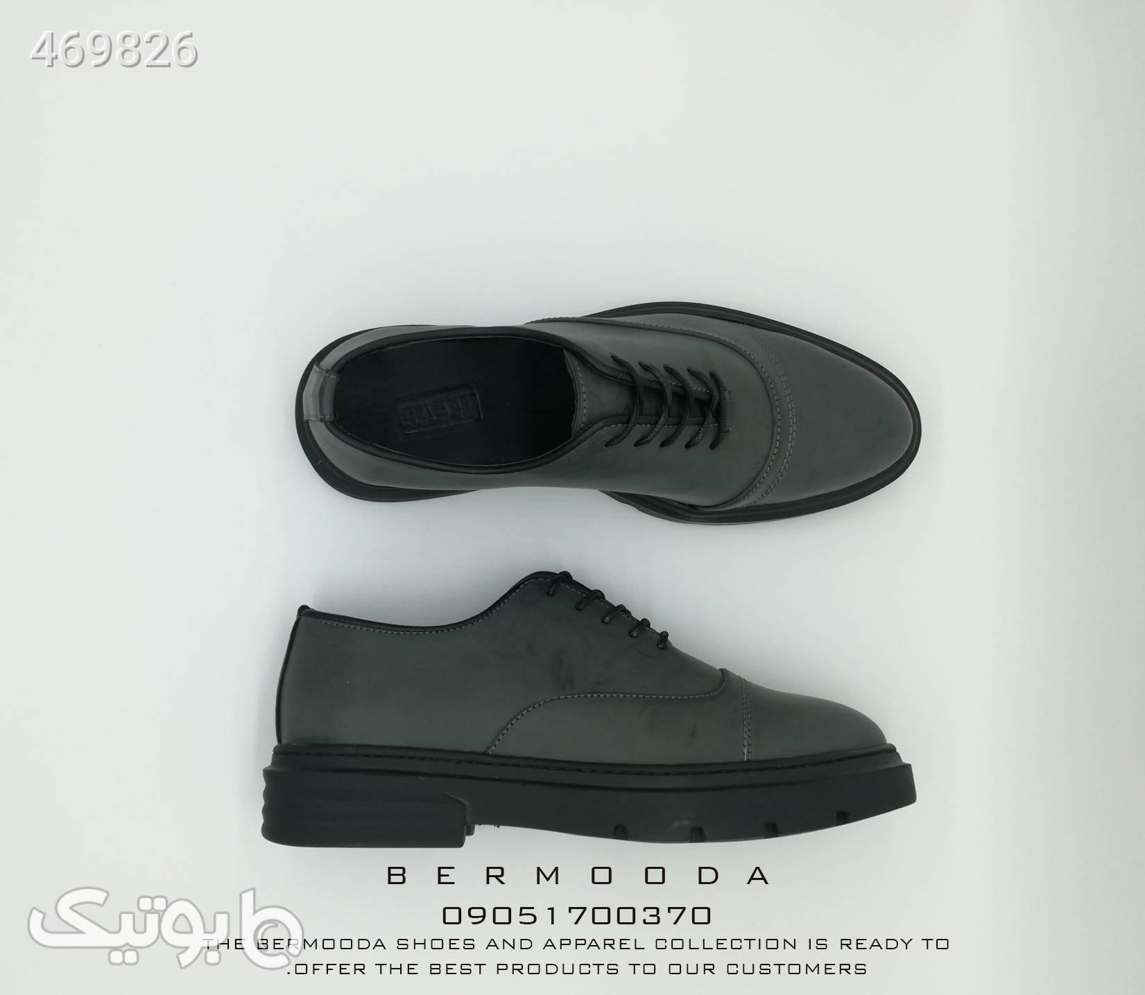 کفش کالج بندی طوسی كفش مردانه