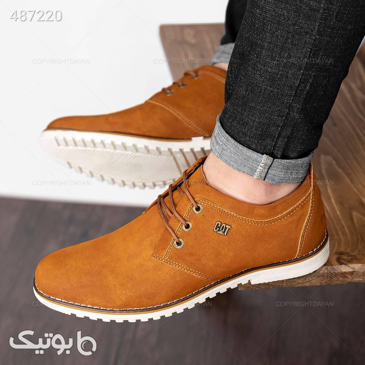 کفش کلاسیک cat  قهوه ای كفش مردانه