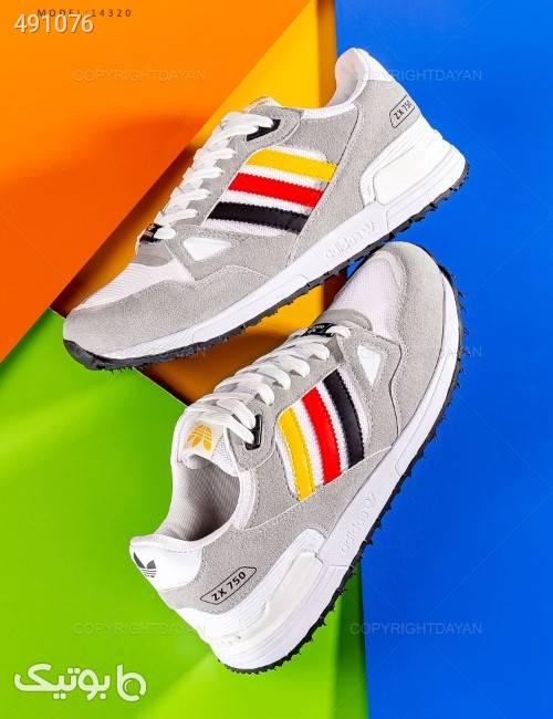 کفش مردانه مدل 14320  نقره ای كفش مردانه