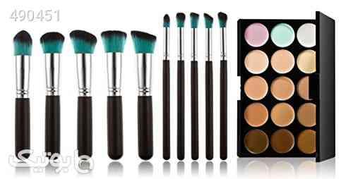 FantasyDay Professional 15 Colors Contour Kit Highlighting Face Cream Concealer Camouflage Makeup Palette + 10 Pieces Makeup Brush Set Make Up Tools کرم 99 2020