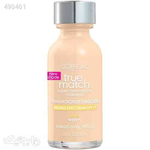 L'Oreal Paris Makeup True Match Super-Blendable Liquid Foundation, Cream Ivory W0.5, 1 Fl Oz,1 Count کرم 99 2020