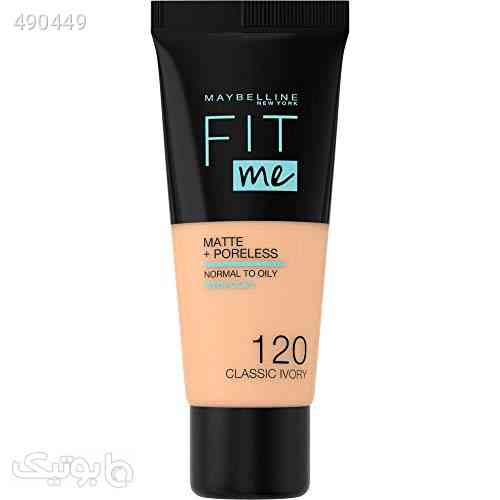 Maybelline New York Fit Me Matte + Poreless Face Foundation - 30 ml, Classic Ivory 120 کرم 99 2020