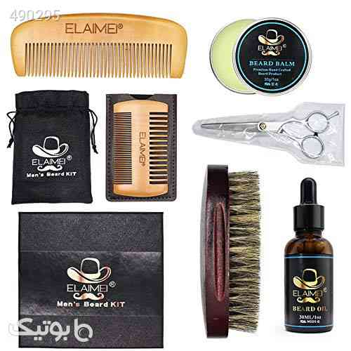 Beard Grooming&Trimming Gift Kit For Men,Mustache Care Beard Oil Balm Brush Comb Barber Scissors for Men, Daily Beard Trimming Care and Shape Set with Traveling Bag, Bamboo Hair Comb مشکی 99 2020