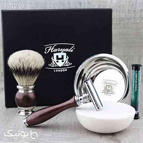 Premium Classic Men's Shaving Set ft Top Grade Silver Tip Brush, DE Safety (Blades Not Included), Engraved Bowl & Soap قهوه ای 99 2020