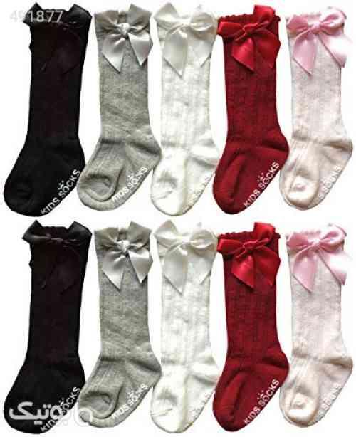 QandSweet Baby Girl Knee-High Socks Toddlers Breathable Mesh Dance Sock Infant Cute Bow Sock زرشکی 99 2020