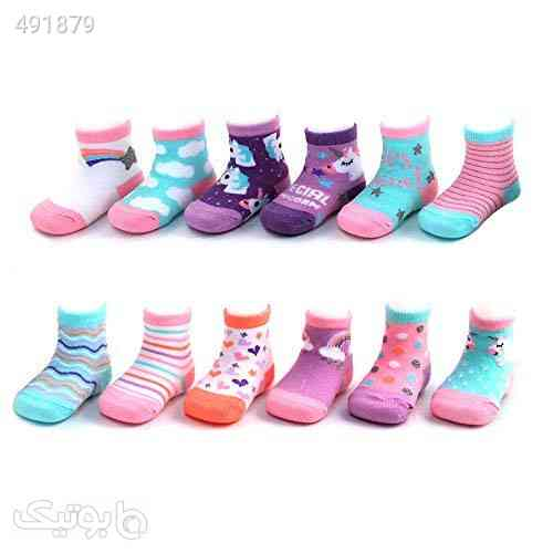 Rising Star Baby Girls Ankle Sock with Charachter Designs: Unicorn, Kitty and Hearts 12 Pack (Newborn and Infants) فیروزه ای 99 2020