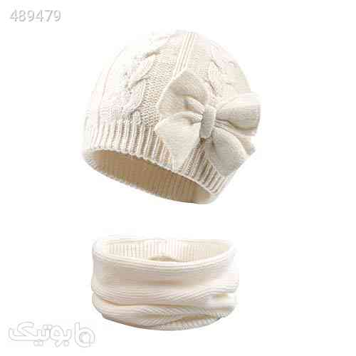 Winter Warm Knitted Baby Hat for Girls Cotton Lined Infant Toddler Girls Hat Autumn Cute Bow Classic Girls Beanie 0-6Y سفید 99 2020
