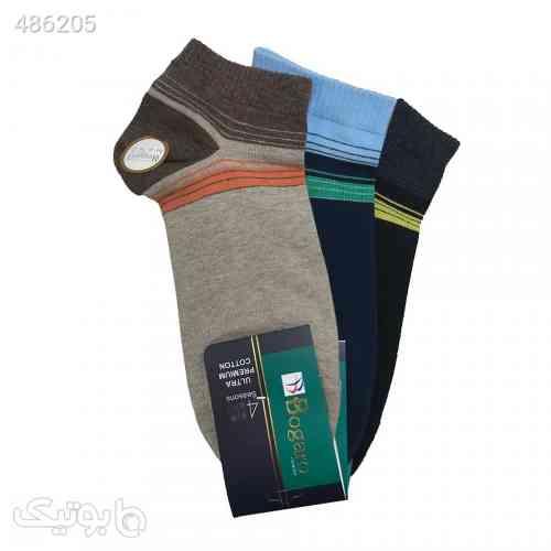 جوراب نخی مردانه بوگارو Bogora - بسته 3 عددی سورمه ای 99 2020