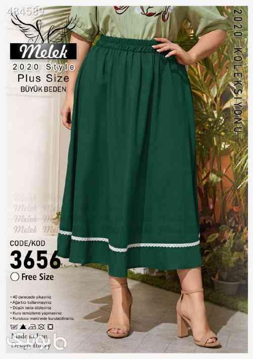دامن (سایز بزرگ) سبز 99 2020