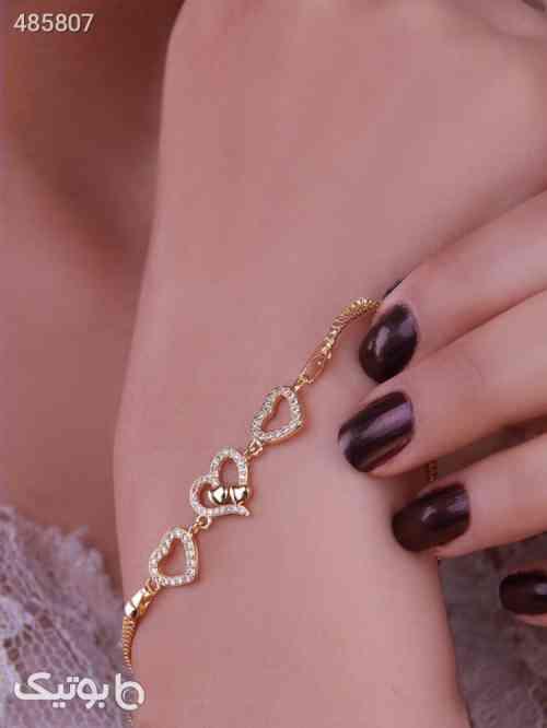 دستبندطرح قلب طلایی 99 2020