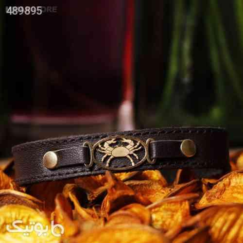 دستبند چرم طرح ماه تولد زرد 99 2020